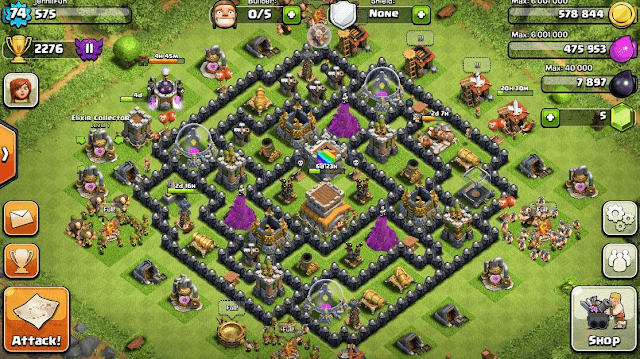 akun coc th 8 gratis