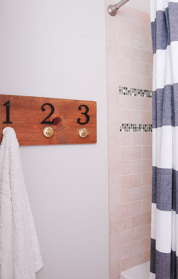 DIY Numbered Wood Wall Rack - Little House of Four