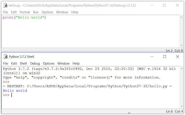 قم بتشغيل برنامج Python في IDLE