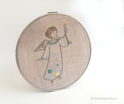 angel embroidery pattern holiday hand embroidery