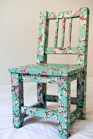 silla decoupage idea diy