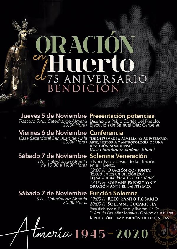 Actos extraordinarios por el 75 aniversario de la bendición de la Oración en el Huerto de Almería