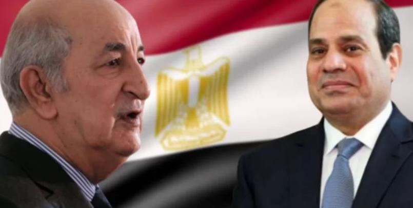 الرئيس عبد الفتاح السيسي و الرئيس الجزائري تبون