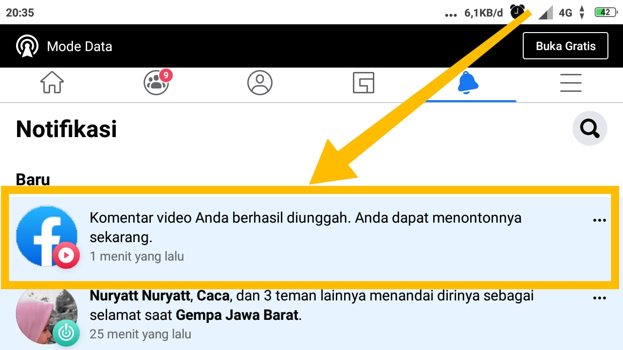 cara upload video di fb grup