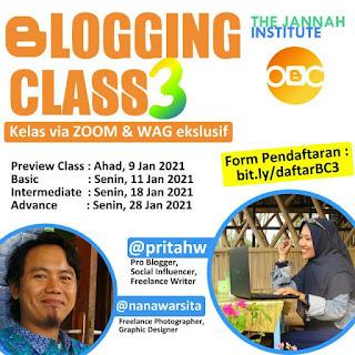 kelas blog online, mentor prita hw,