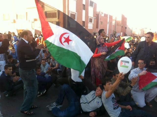 جبهة البوليساريو تسجل  مواقف في غاية الشجاعة والتحدي لانتفاضة الاستقلال بالارض المحتلة