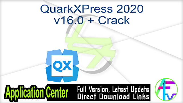 QuarkXPress 2020 v16.0 + Crack