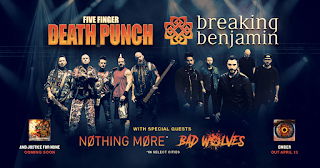 Five Finger Death Punch and Breaking Benjamin at Hollywood Casino Amphitheatre on August 29 in Chicago