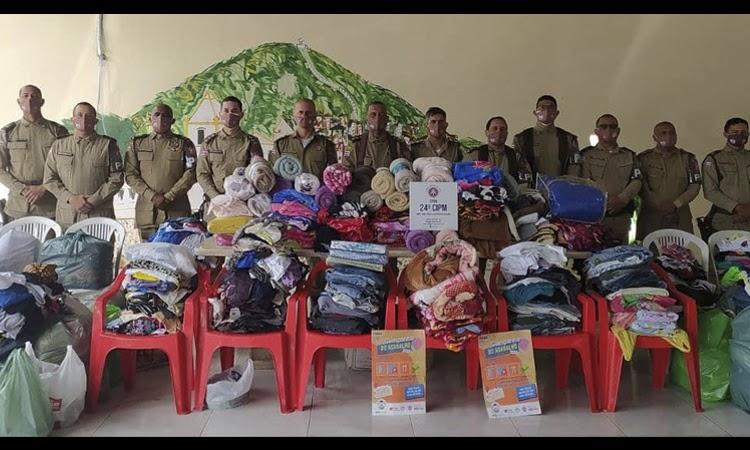 Polícia Militar realiza doações em Jacobina e Vitória da Conquista