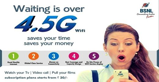 High-speed WiFi service provider BSNL has announced the launch of Free WiFi plan to offer 4G speed Unlimited free data usage for passengers at Airports in India