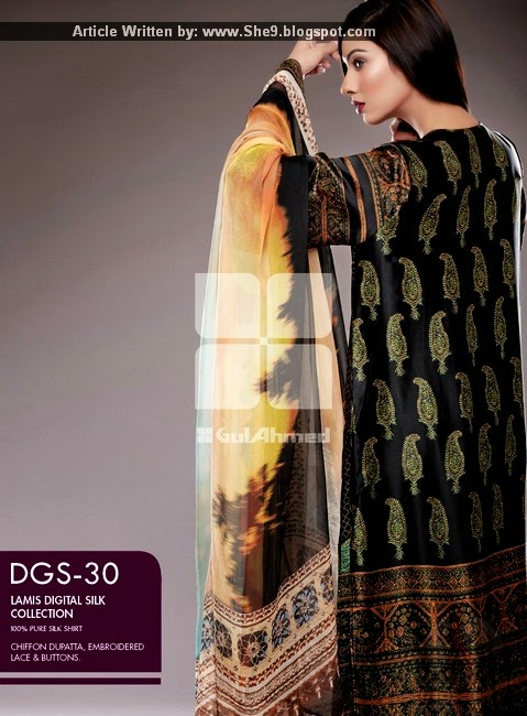 Lamis Digital Silk Dresses Magazine by Gul Ahmed