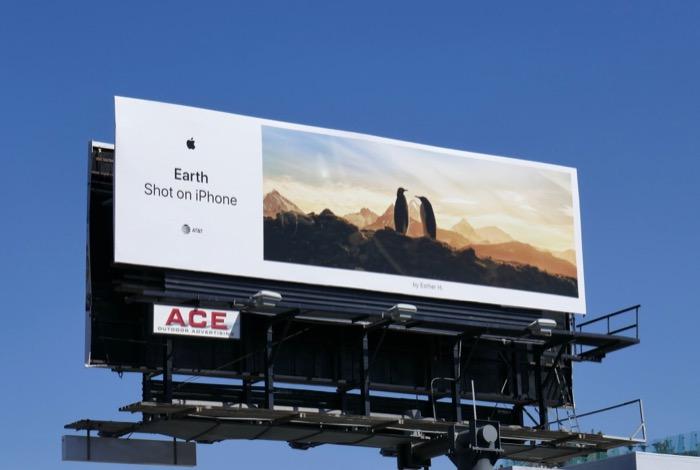 Earth Shot on iPhone Esther H Penguins billboard