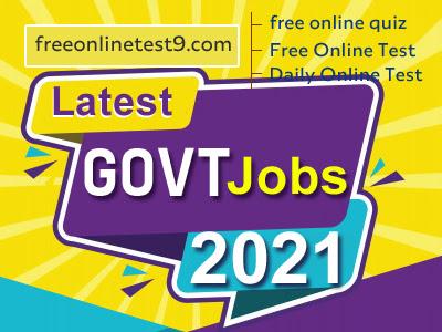 government jobs, Latest Govt Jobs 2021