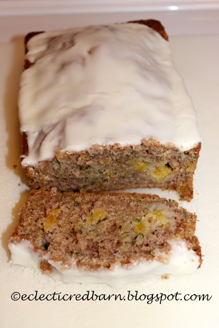 Eclectic Red Barn: Fresh Pineapple-Zucchini Bread with Pineapple Glaze