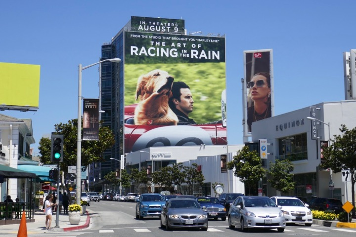 Art of Racing in the Rain giant billboard