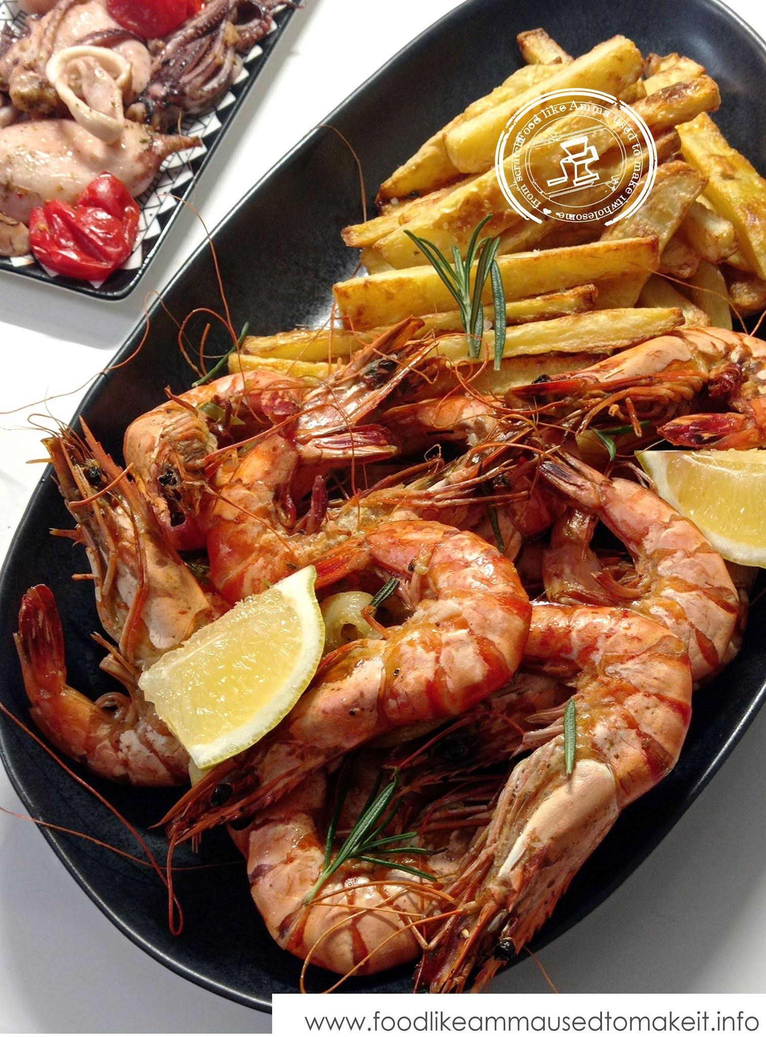 oven-baked garlic prawns recipe