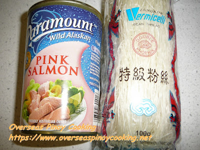 Canned Pink Salmon  and Sotanghon Noodles