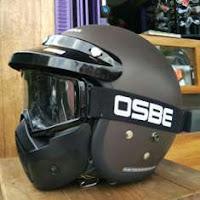 Paket Helm Cargloss Retro + Goggle Mask