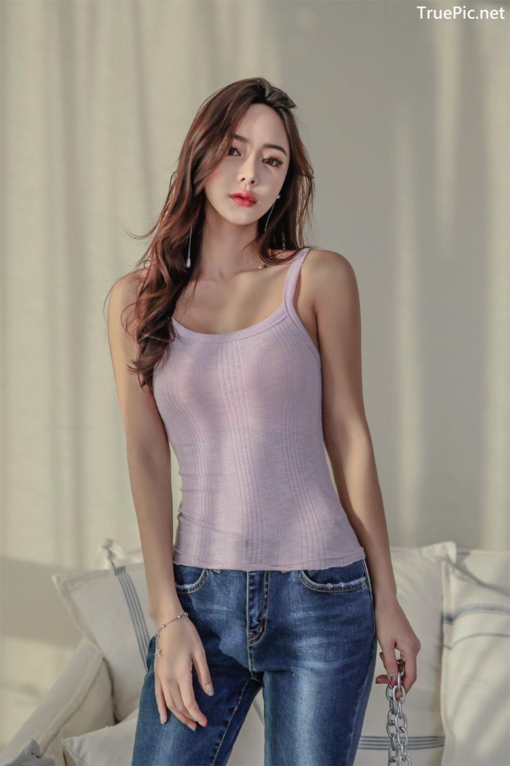 Image-Korean-Fashion-Model-Kim-Bo-Ram-Jeans-Set-Collection-TruePic.net- Picture-1