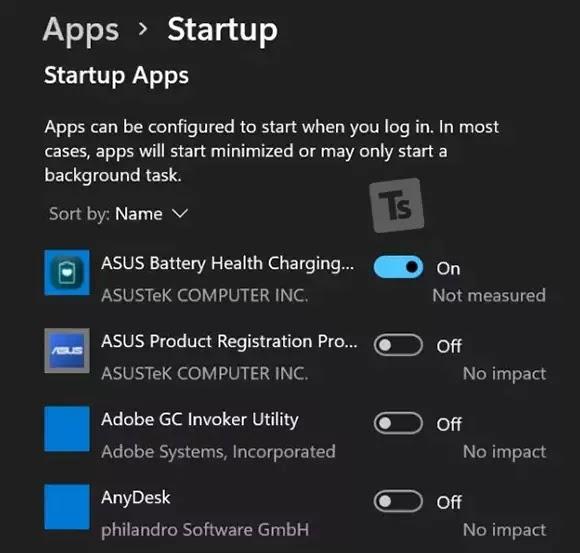 تطبيقات بدء التشغيل ويندوز 11