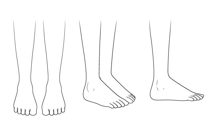 Kaki sandal anime menggambar