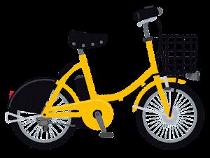 シェア自転車のイラスト(黄色)