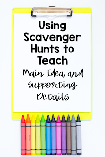 Teaching Main Idea and Supporting Details while teaching online can be tough! This blog post shares how teachers can find a fun way to introduce this topic to students through the use of Scavenger Hunts. Students will be engaged in this distance learning activity while developing an understanding of a difficult concept. Check out the steps on how this works and see why it will be a success in your classroom. #CFTC #Conversations from the Classroom