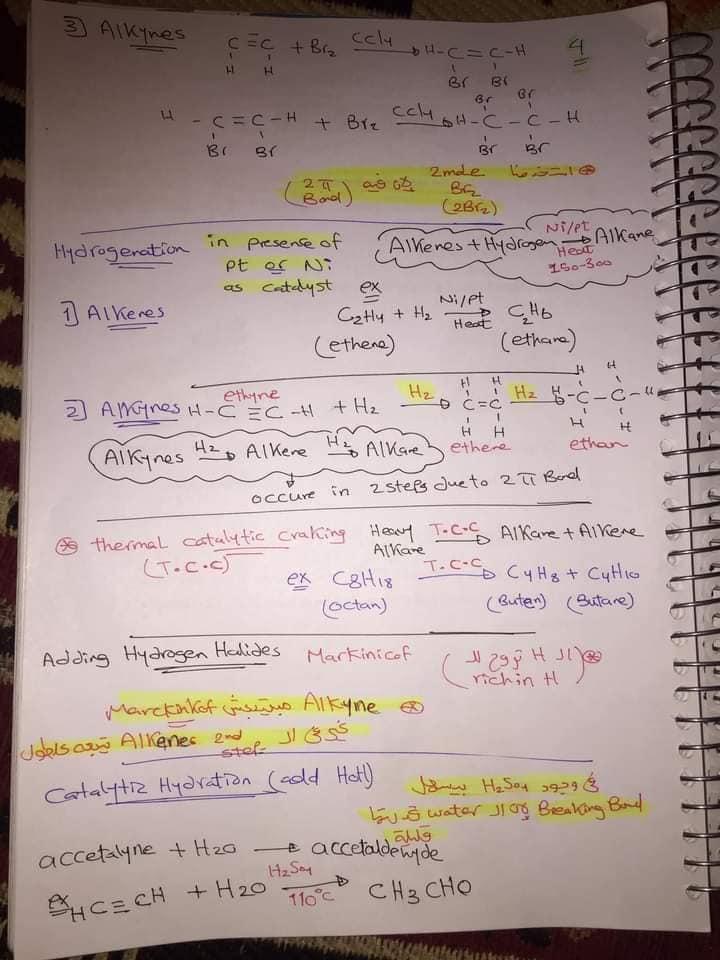 ملخص organic chemistry للثانوية العامة لغات 4