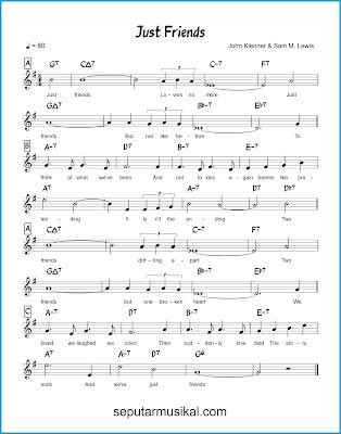 Just Friends chords jazz standar