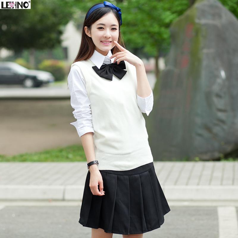 Our-uniforms-school-uniforms-uniforms-Japanese-sailor-suit-high-school-girls-sweater-vest-suit-British-Academy