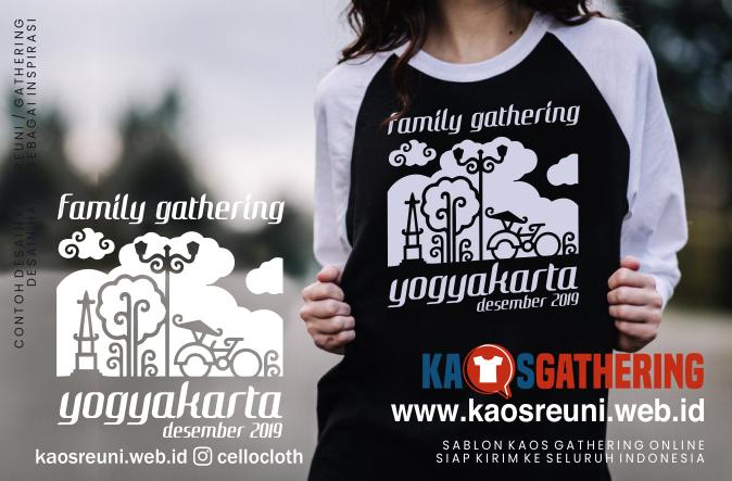 Desain Kaos Gathering, Kaos Gathering, Sablon Kaos Gathering,