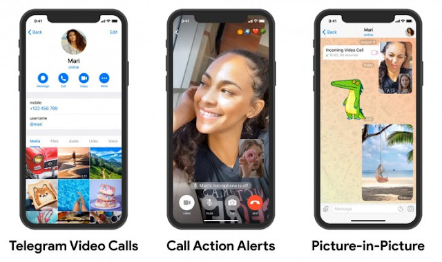 Telegram's one-on-one video calls on iOS and Android finally arrived - QasimTricks.com