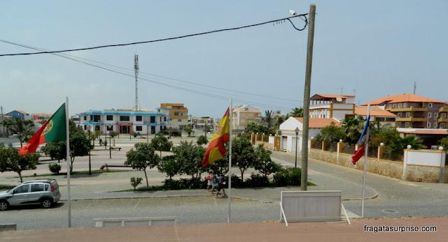 Praça principal de Santa Maria, Ilha do Sal, Cabo Verde