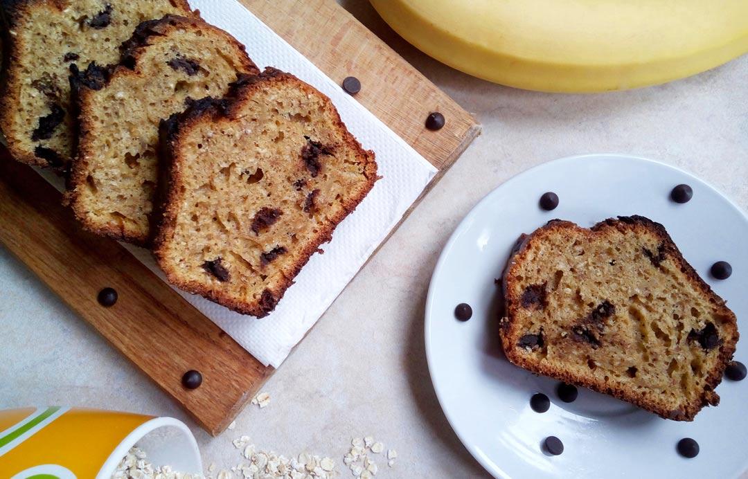 Κέικ με Μπανάνα και Βρώμη