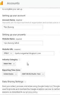 cara mendaftar dan memasang kode google analytics pada template