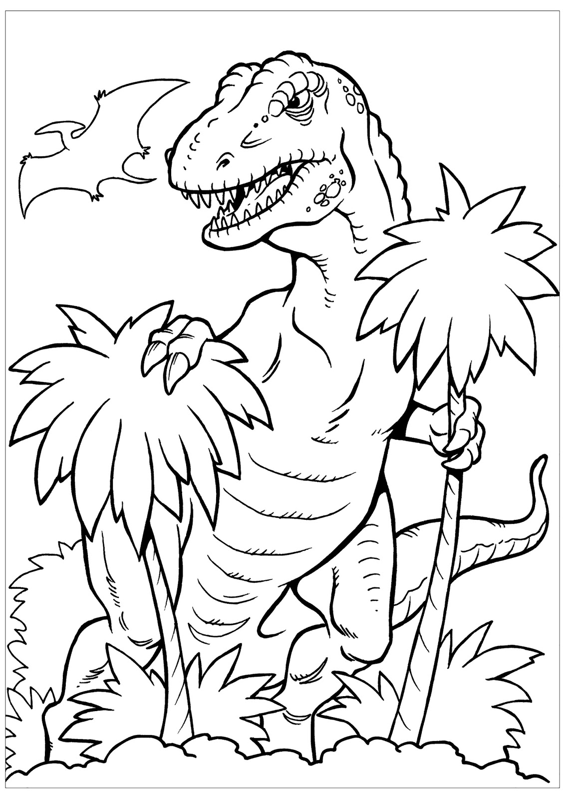 Dinosaurs coloring pages 49