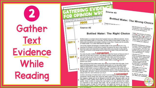 Text-based writing evidence