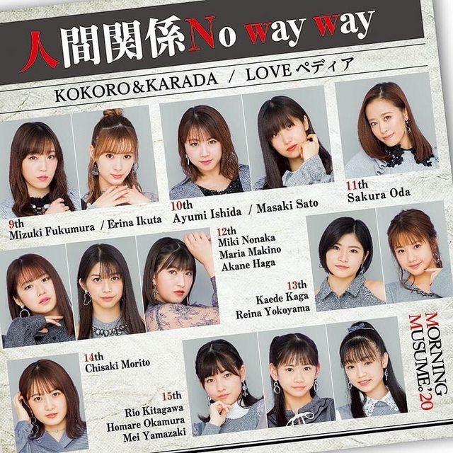 Morning Musume. '20 - Ningen Kankei No way way