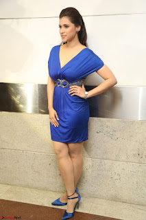 Mannara Chopra in Short Blue Dress at Rogue Movie Teaser Launch 1st March 2017 123.JPG