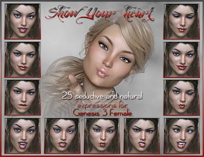 Show Your Heart Expressions for Genesis 3 Female