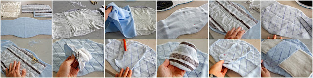 Step-by-step making a reusable dog belly band diaper (sewing the stay dry absorbent liner)