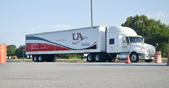 exterior of semi truck with UACCM decal