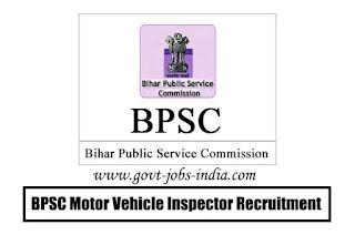 BPSC Motor Vehicle Inspector Recruitment 2020