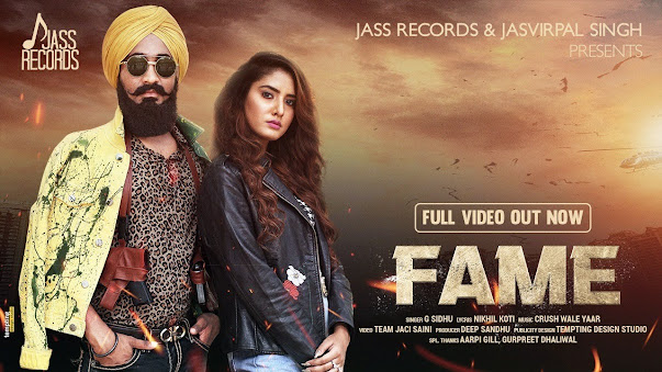 Fame Song Lyrics | G Sidhu | Jaci Saini | New Punjabi Songs 2020 | Jass Records Lyrics Planet