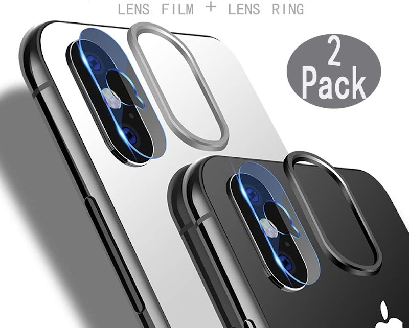 50% Off  [2 Pack] Tempered-Glass Camera Protector for iPhone X 2.5D Ultra Thin HD Anti-Fingerprint