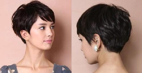 Model Rambut Pendek Wanita Gemuk pixie