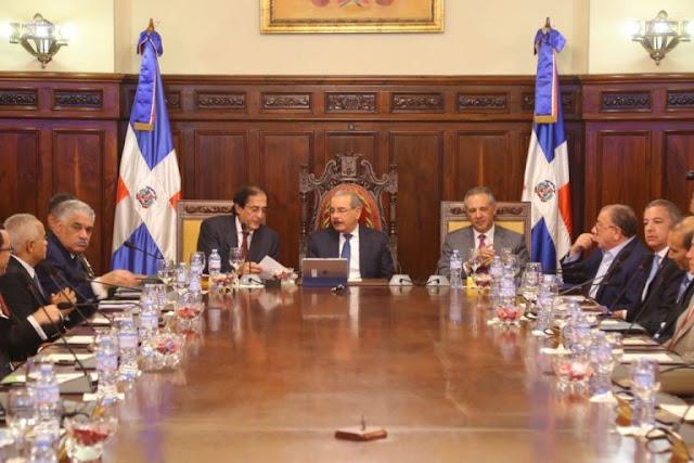 DICOM: Danilo Medina encabeza reunión con titulares de entidades gubernamentales sobre Sistema de Monitoreo y Medición de la Gestión Pública
