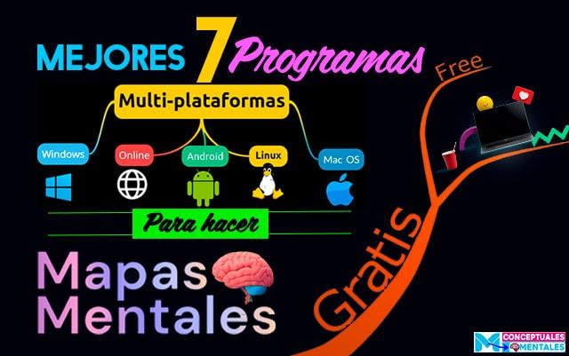 Los mejores Programas multiplataformas Online, Desktop, para hacer mapas mentales gratis