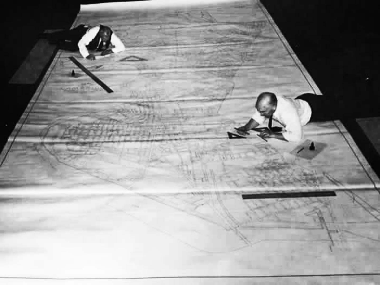 Urban designers before AutoCad.