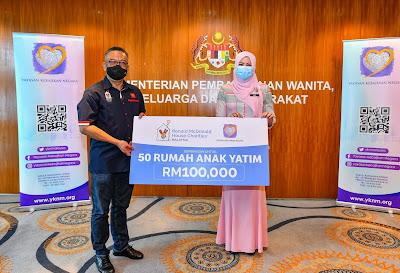 RMHC MALAYSIA MENYUMBANG RM 100,000.00 KEPADA 50 RUMAH ANAK YATIM DI SELURUH MALAYSIA SEMPENA TAHUN BAHARU.